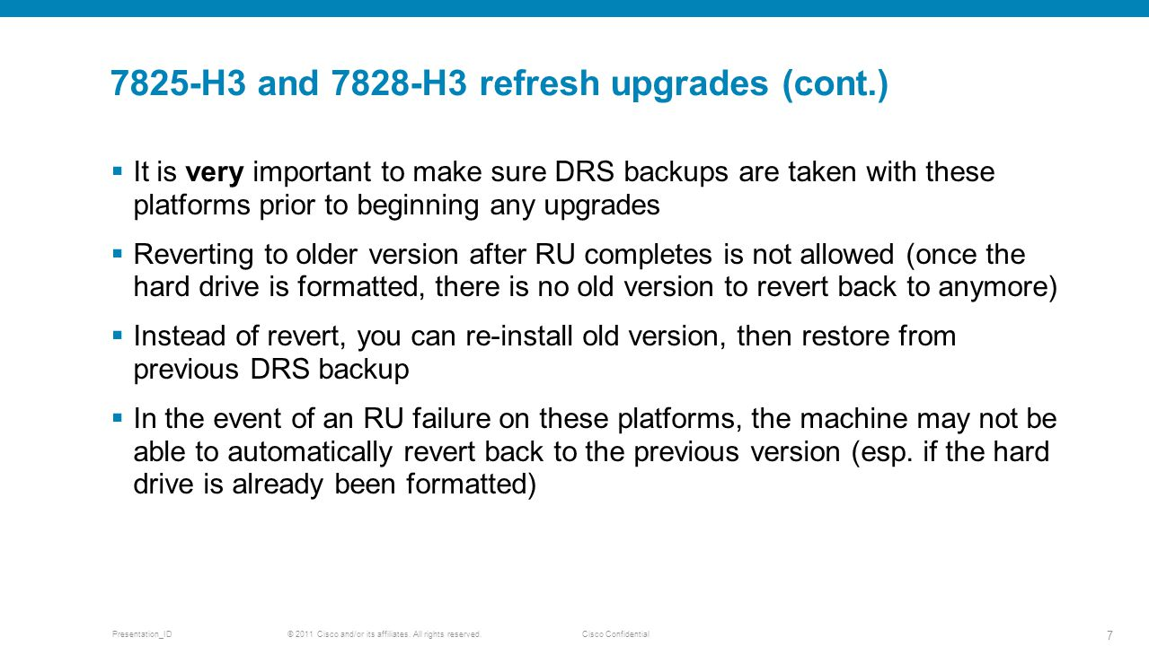 7825-H3 and 7828-H3 refresh upgrades (cont.)
