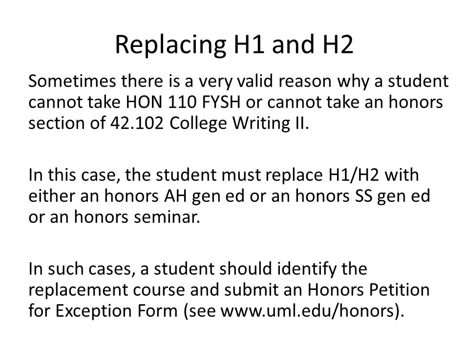 Replacing H1 and H2