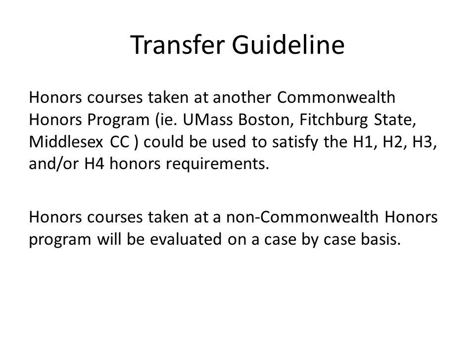 Transfer Guideline