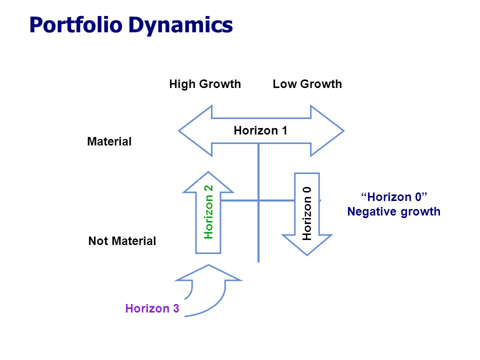Portfolio Dynamics High Growth Low Growth Horizon 1 Material Horizon 2