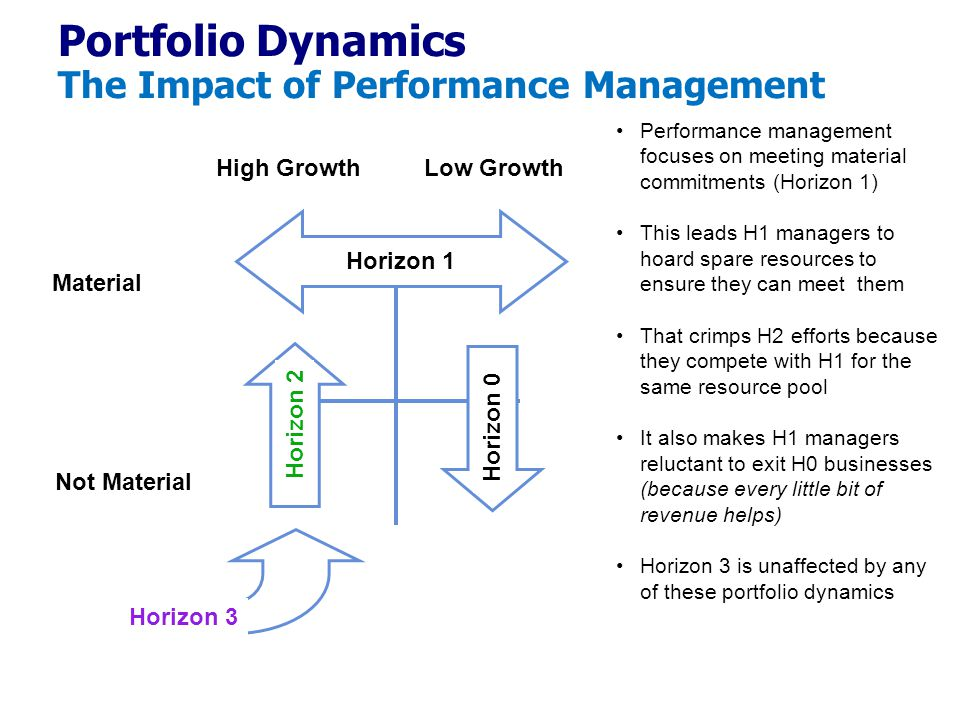 Portfolio Dynamics The Impact of Performance Management