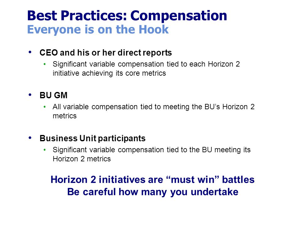 Best Practices: Compensation Everyone is on the Hook