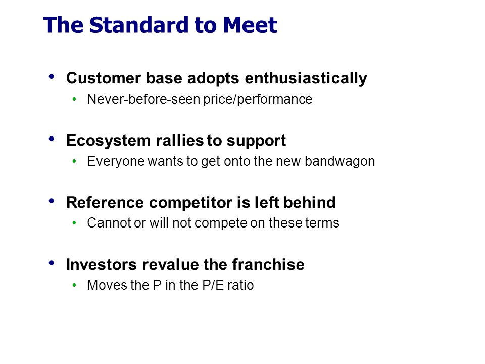 The Standard to Meet Customer base adopts enthusiastically
