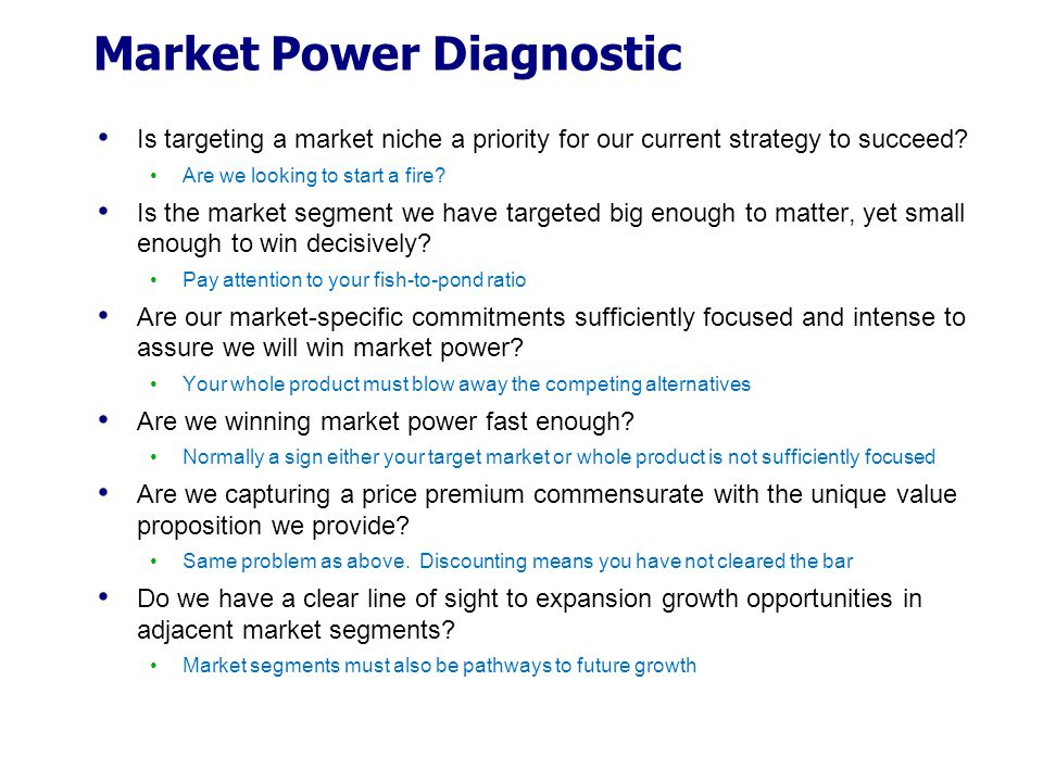 Market Power Diagnostic