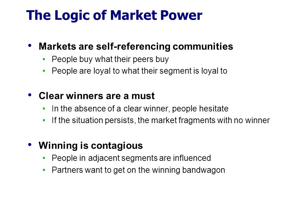The Logic of Market Power