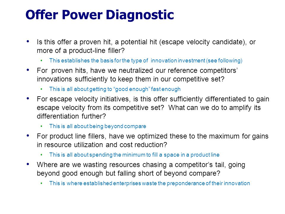 Offer Power Diagnostic