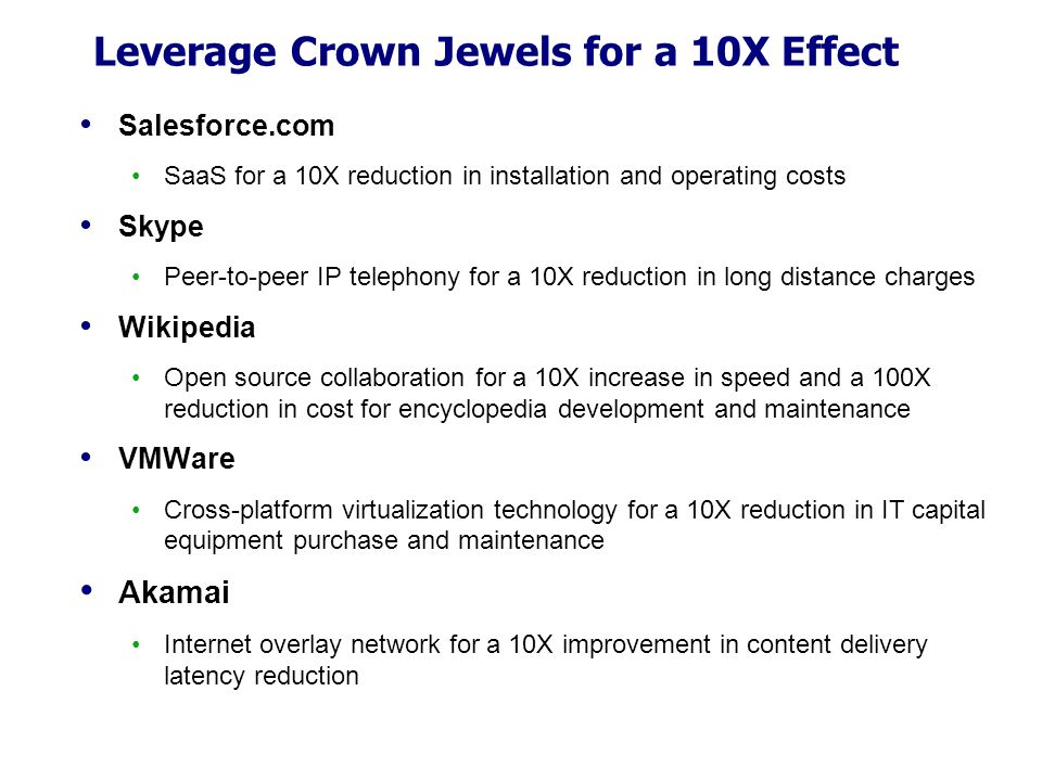 Leverage Crown Jewels for a 10X Effect