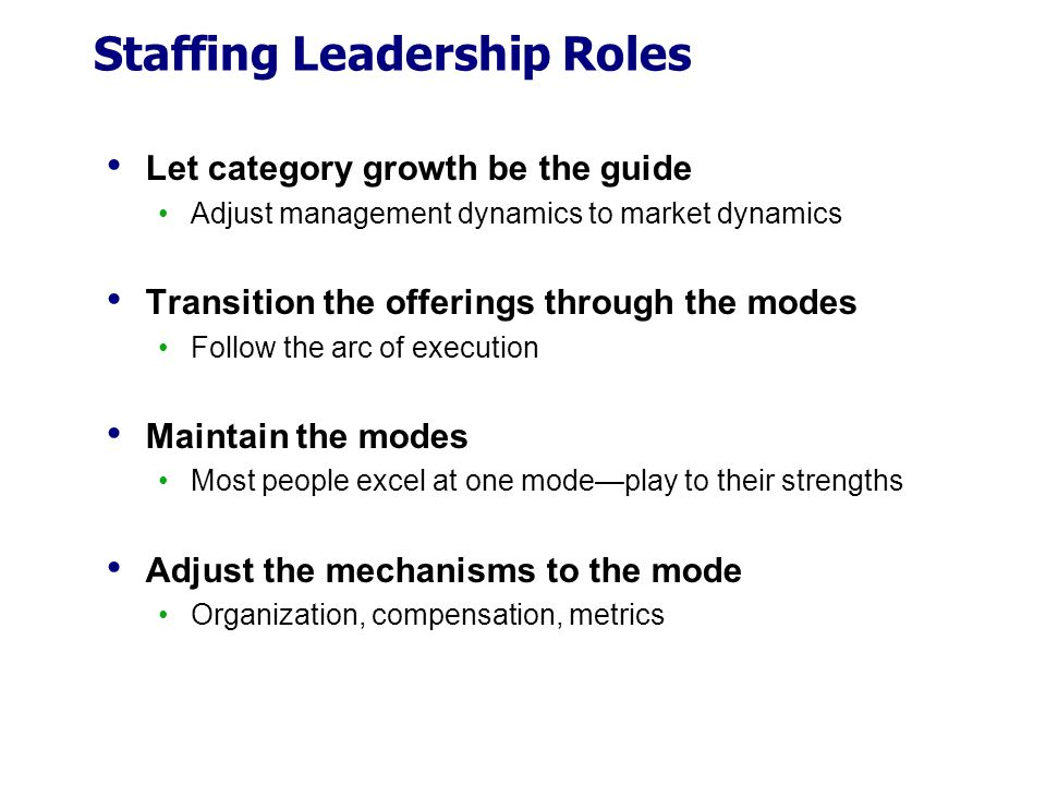 Staffing Leadership Roles