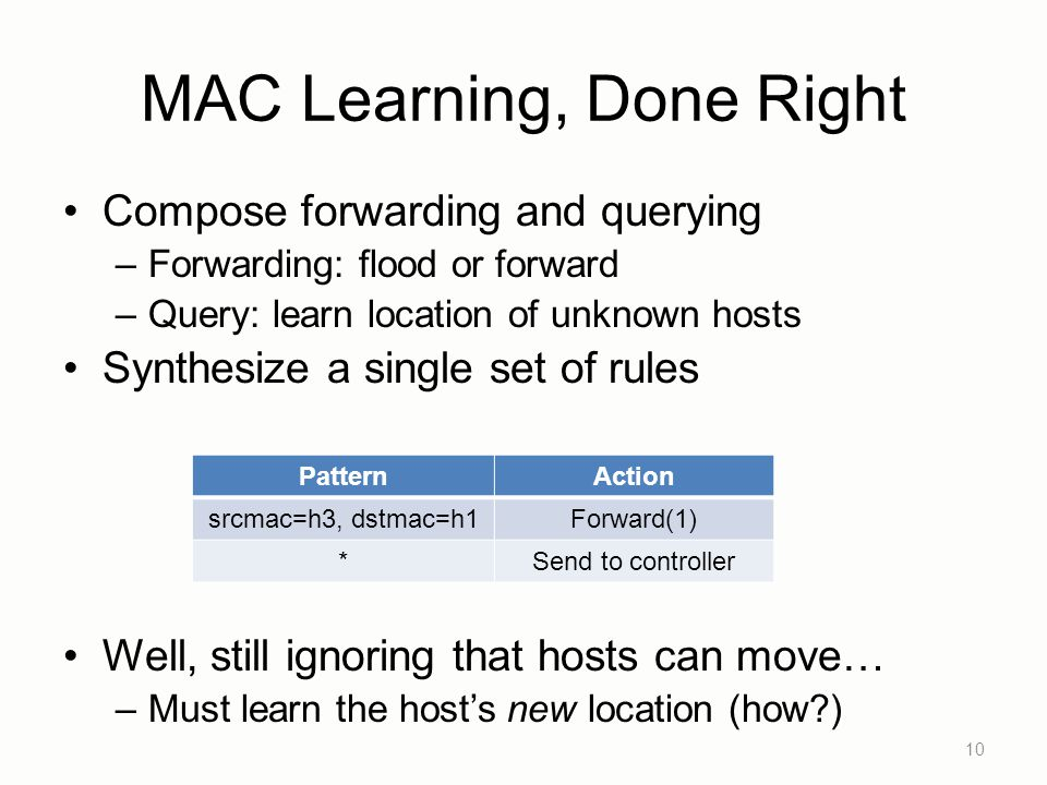 MAC Learning, Done Right