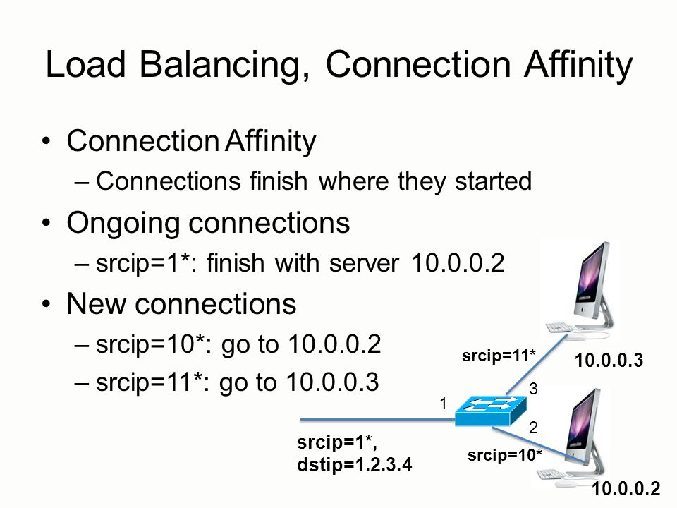 Load Balancing, Connection Affinity
