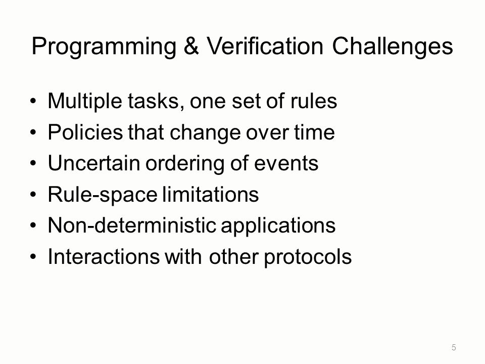 Programming & Verification Challenges