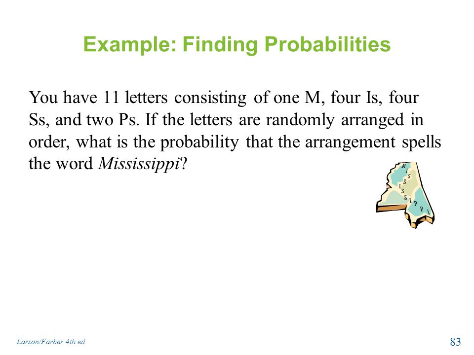 Example: Finding Probabilities