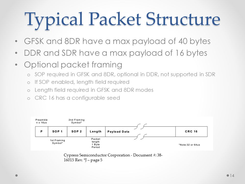 Typical Packet Structure