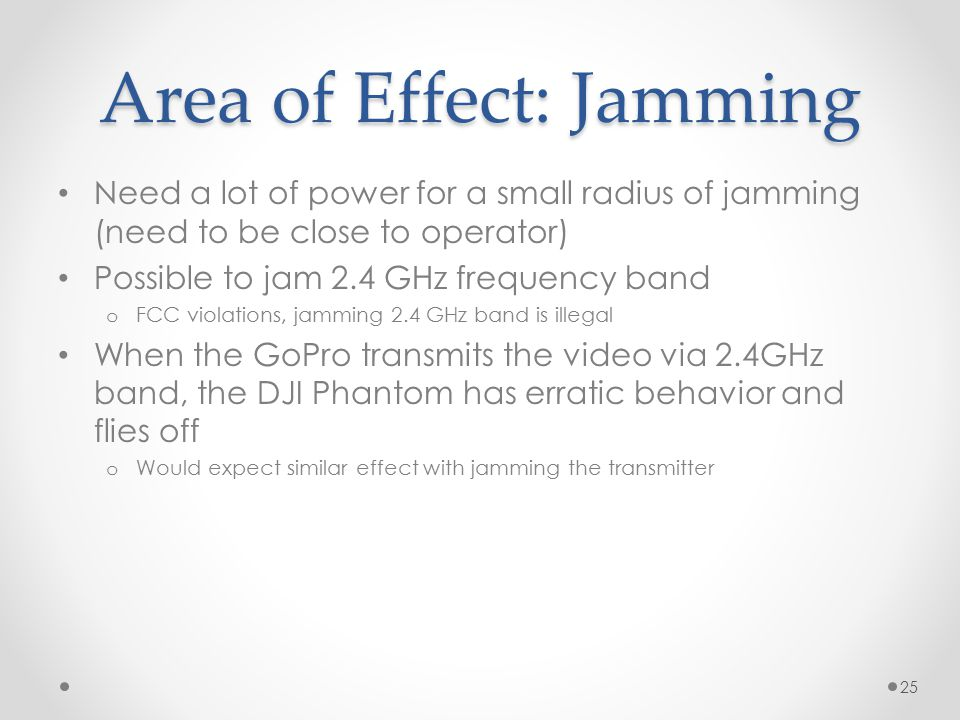 Area of Effect: Jamming