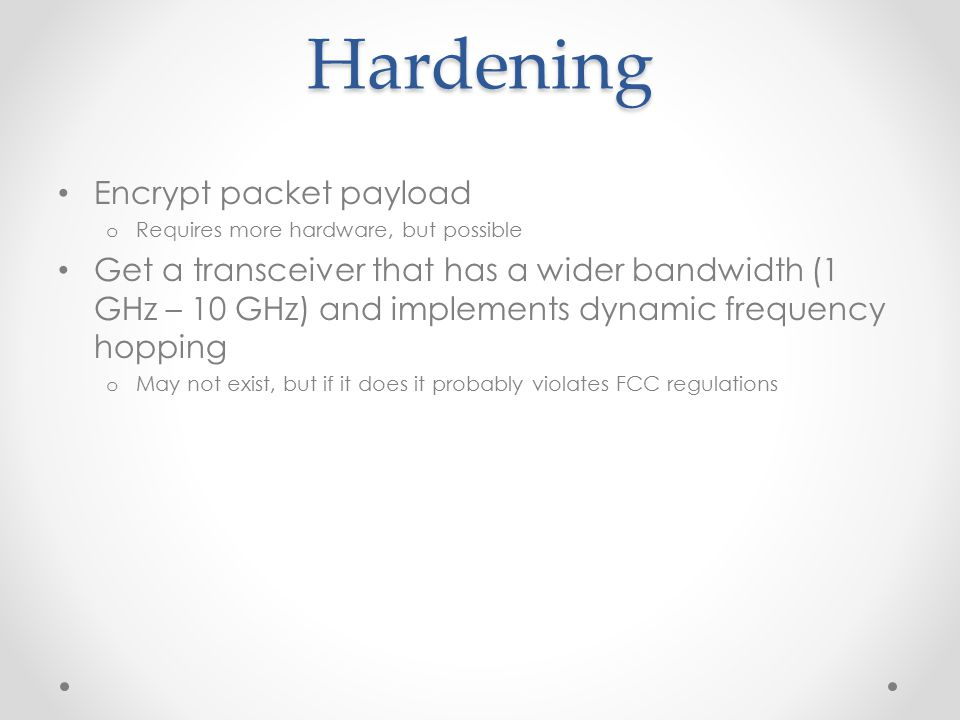 Hardening Encrypt packet payload