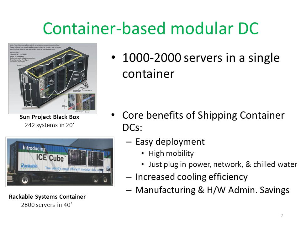 Container-based modular DC
