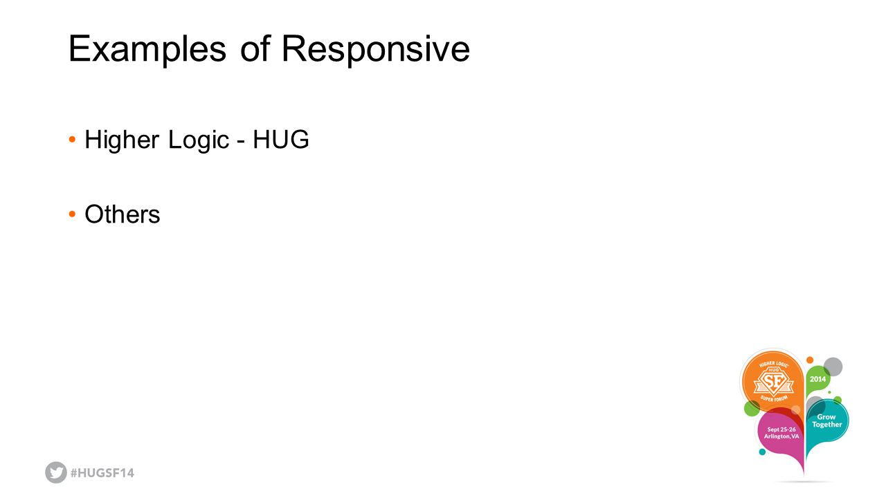 Examples of Responsive