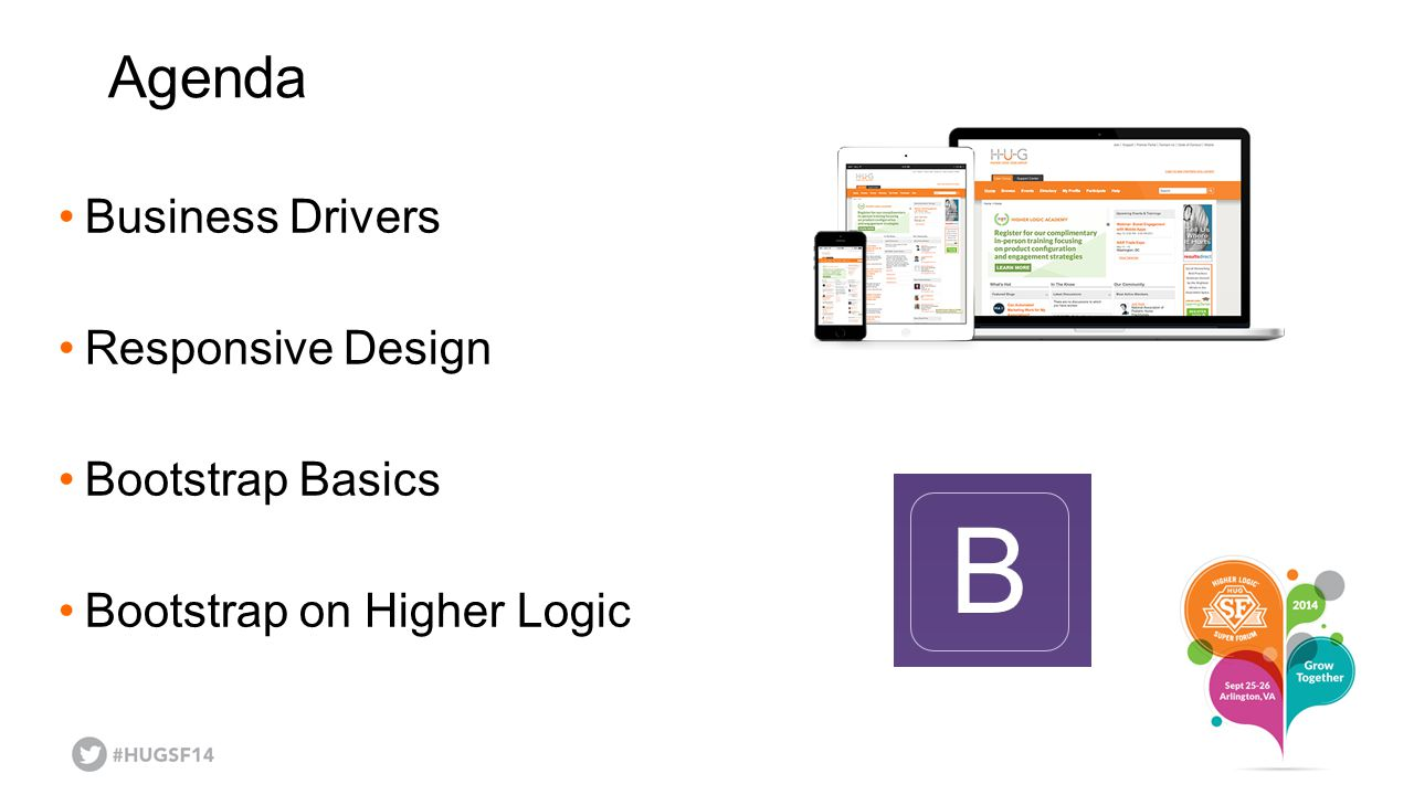 Agenda Business Drivers Responsive Design Bootstrap Basics