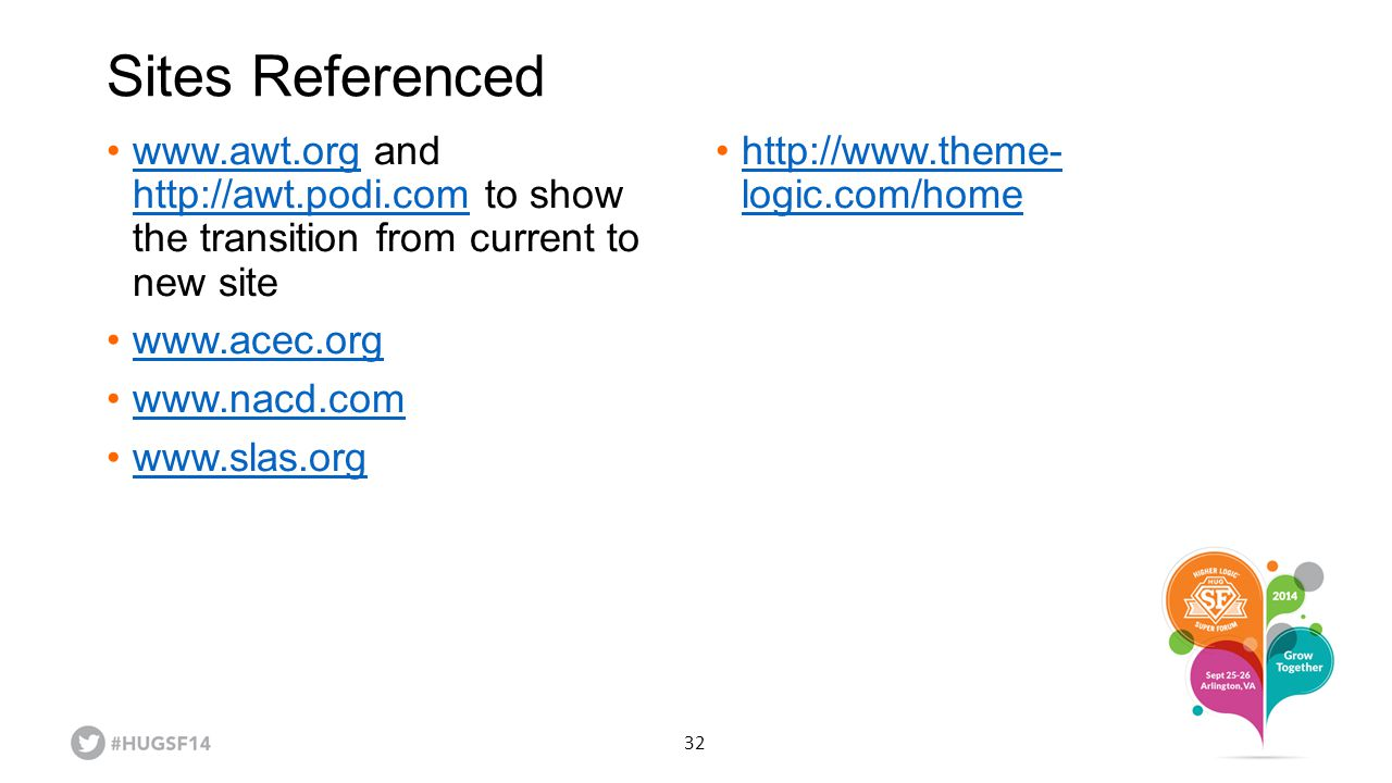 Sites Referenced www.awt.org and http://awt.podi.com to show the transition from current to new site.