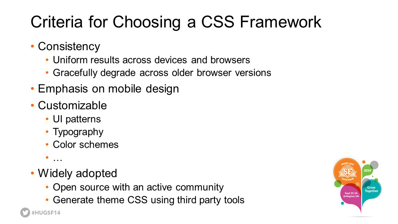 Criteria for Choosing a CSS Framework
