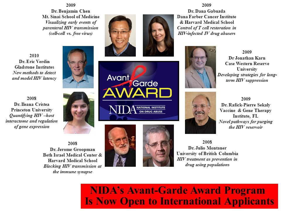 NIDA's Avant-Garde Award Program