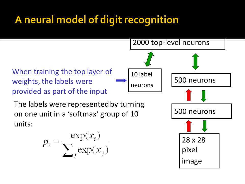 A neural model of digit recognition
