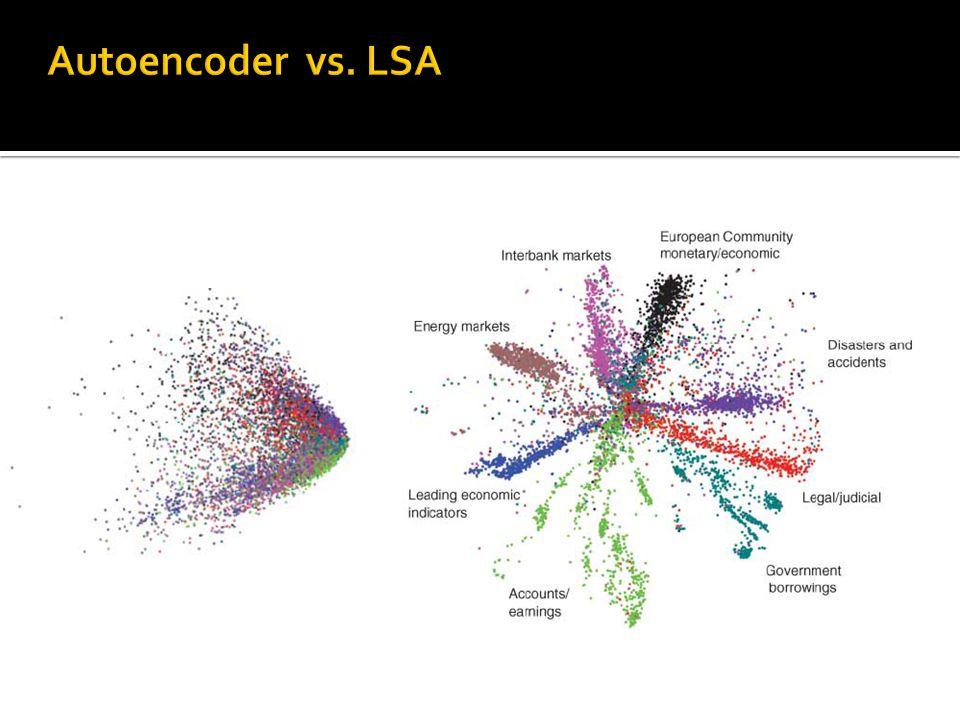 Autoencoder vs. LSA