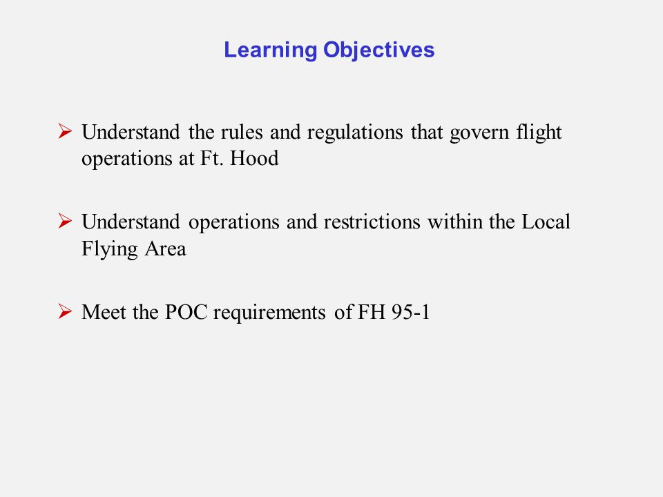 Understand operations and restrictions within the Local Flying Area