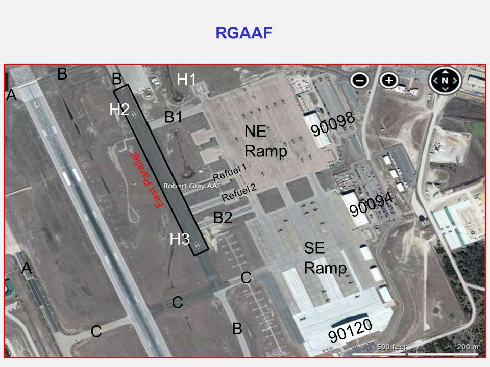RGAAF B H1 A H2 B1 90098 NE Ramp 90094 B2 H3 SE Ramp 90120 C