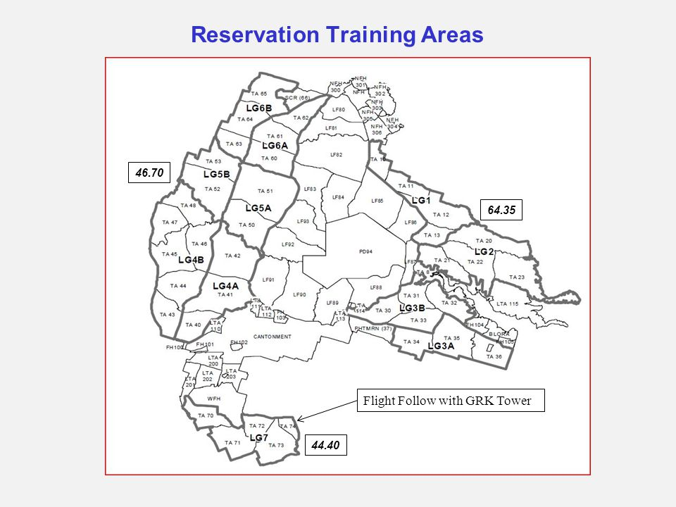 Reservation Training Areas
