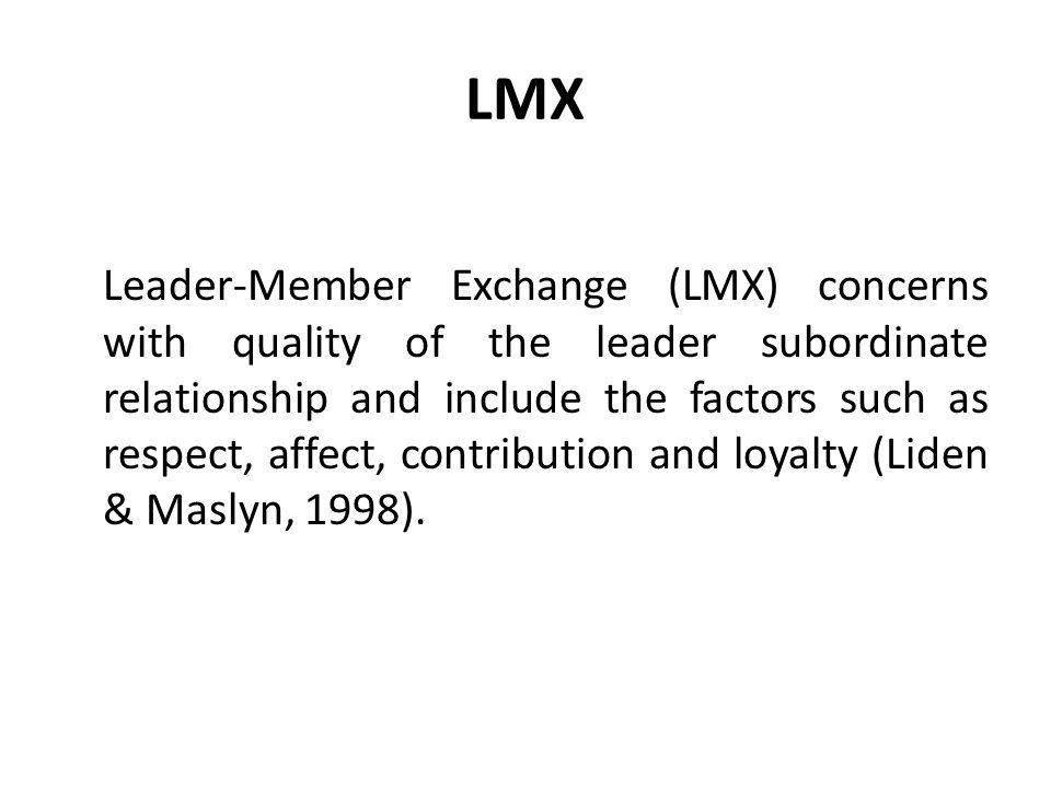 Leader Member Exchange