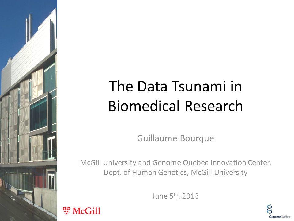 The Data Tsunami in Biomedical Research