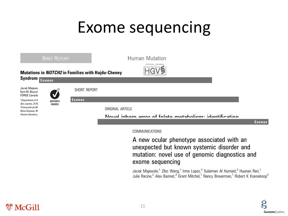Exome sequencing