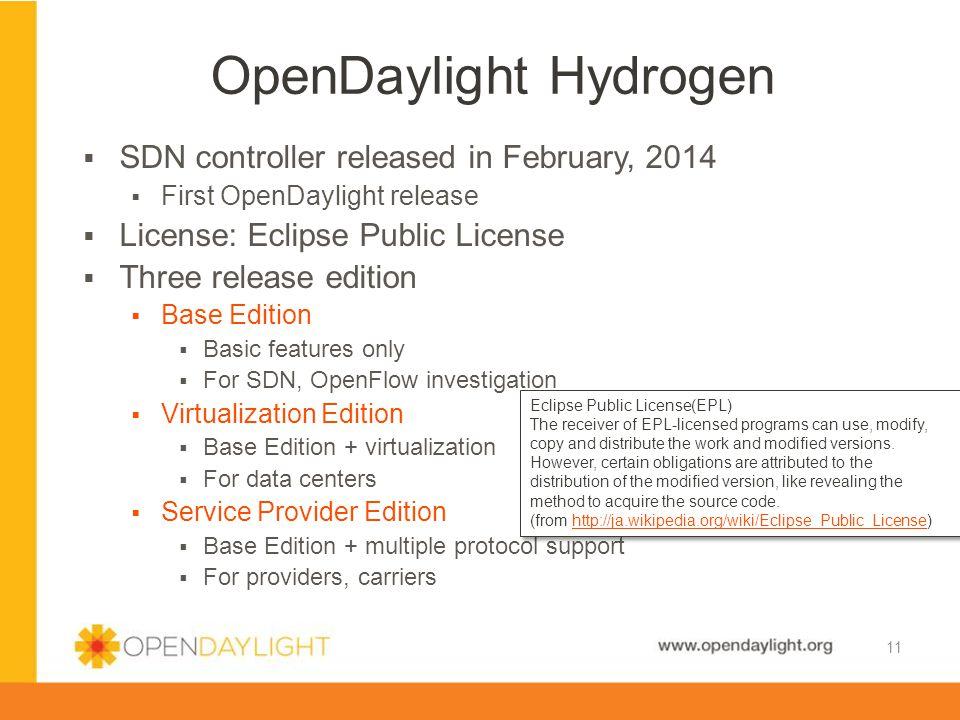 OpenDaylight Hydrogen