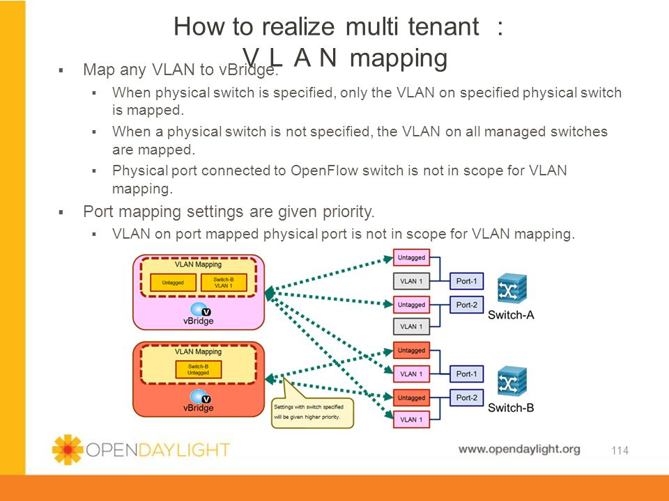 How to realize multi tenant : VLAN mapping
