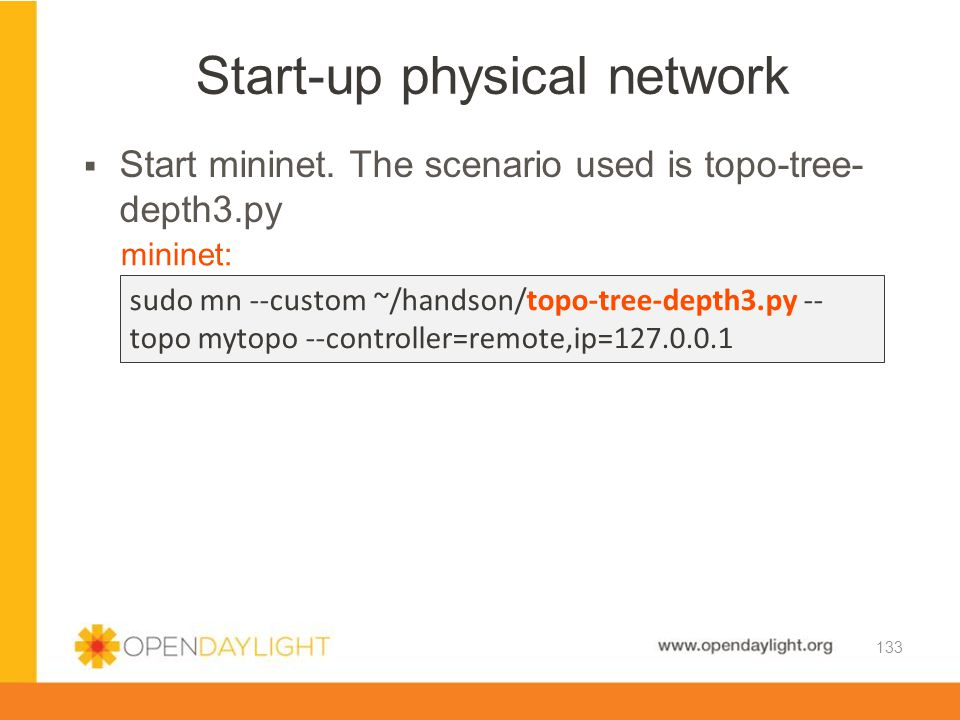 Start-up physical network