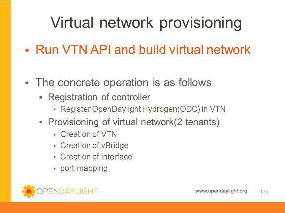 Virtual network provisioning