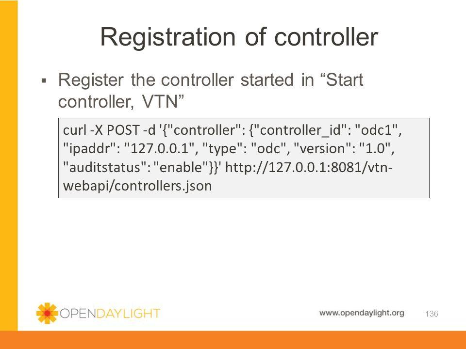 Registration of controller