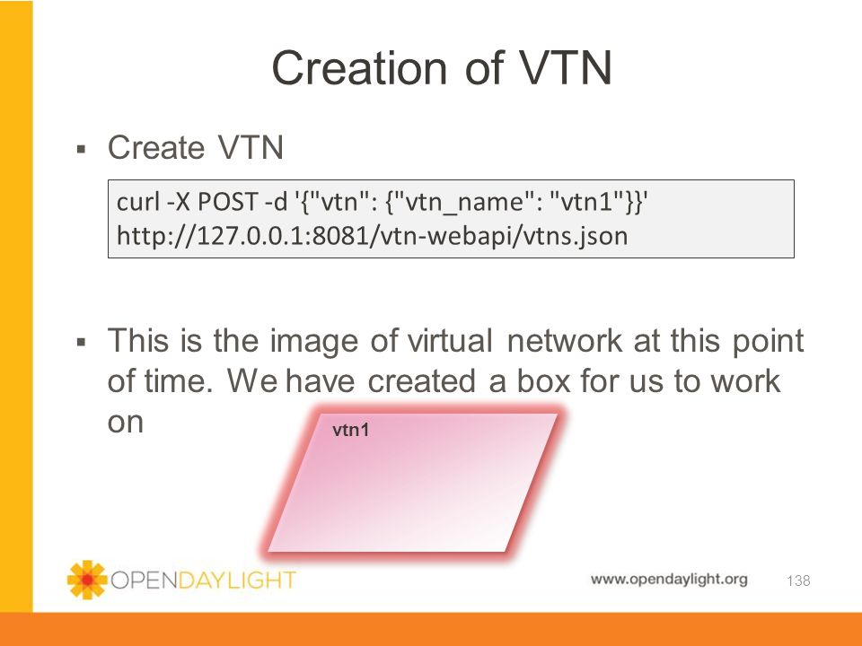 Creation of VTN Create VTN