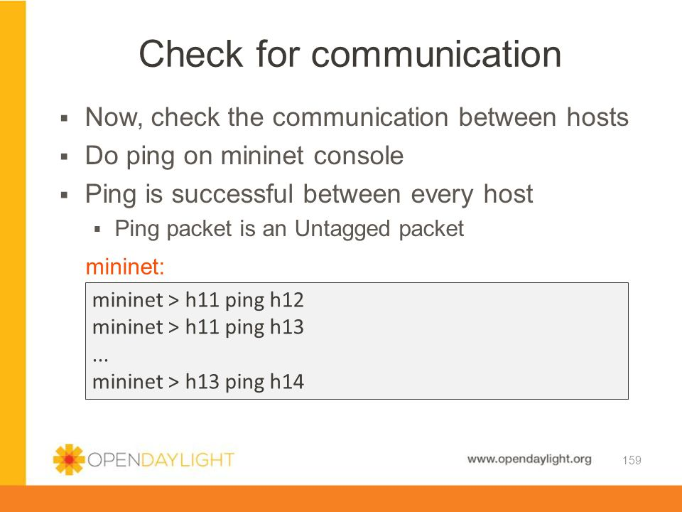 Check for communication