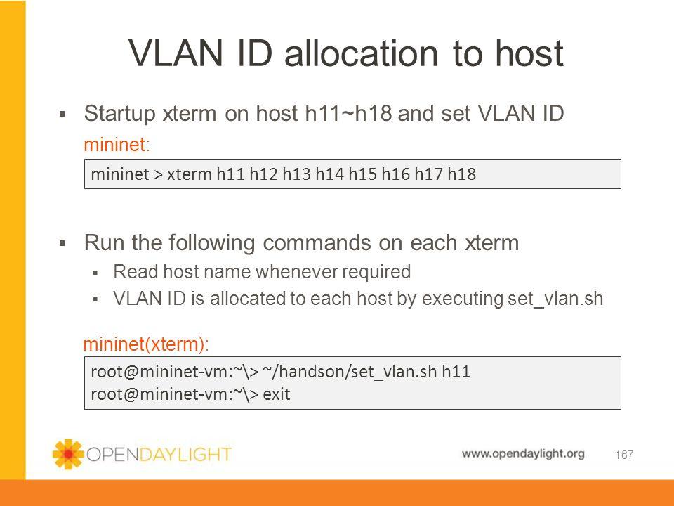 VLAN ID allocation to host