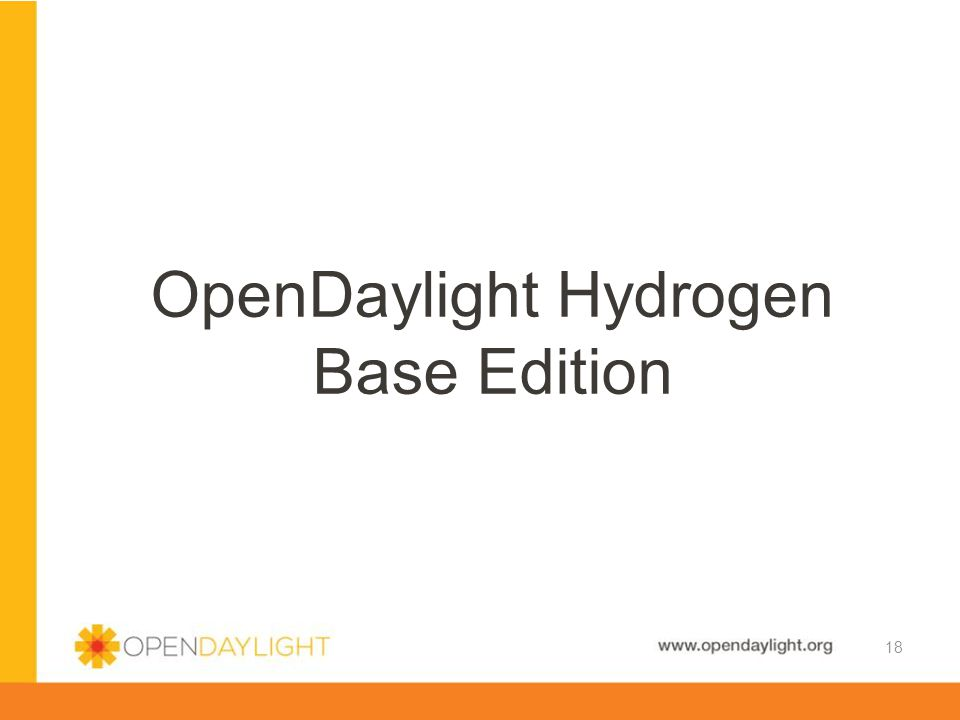 OpenDaylight Hydrogen Base Edition