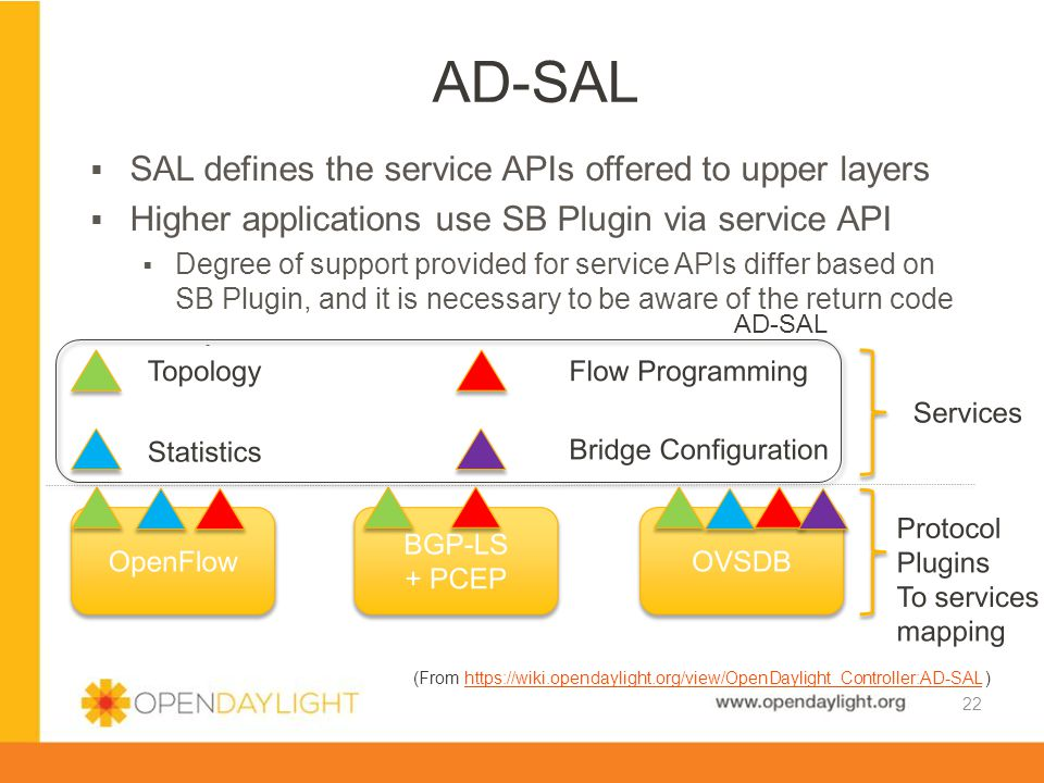 AD-SAL SAL defines the service APIs offered to upper layers
