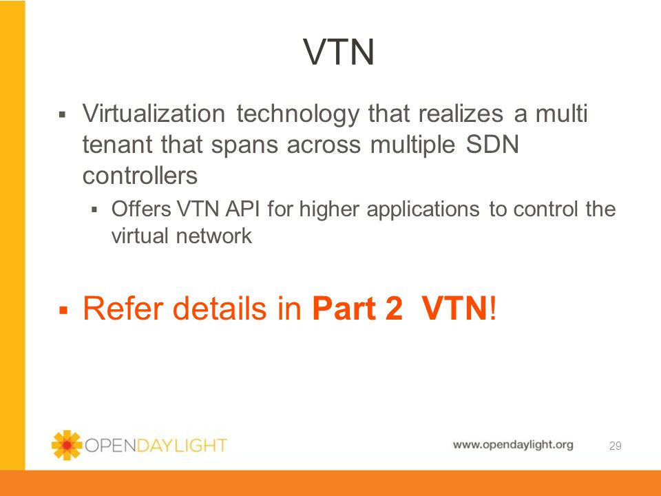 VTN Refer details in Part 2 VTN!
