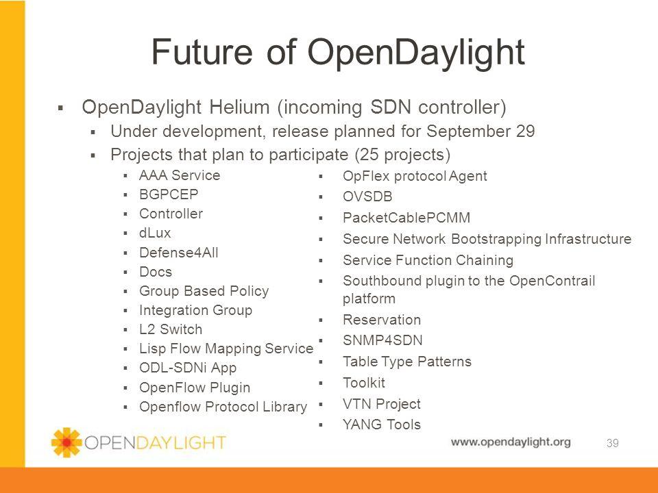 Future of OpenDaylight