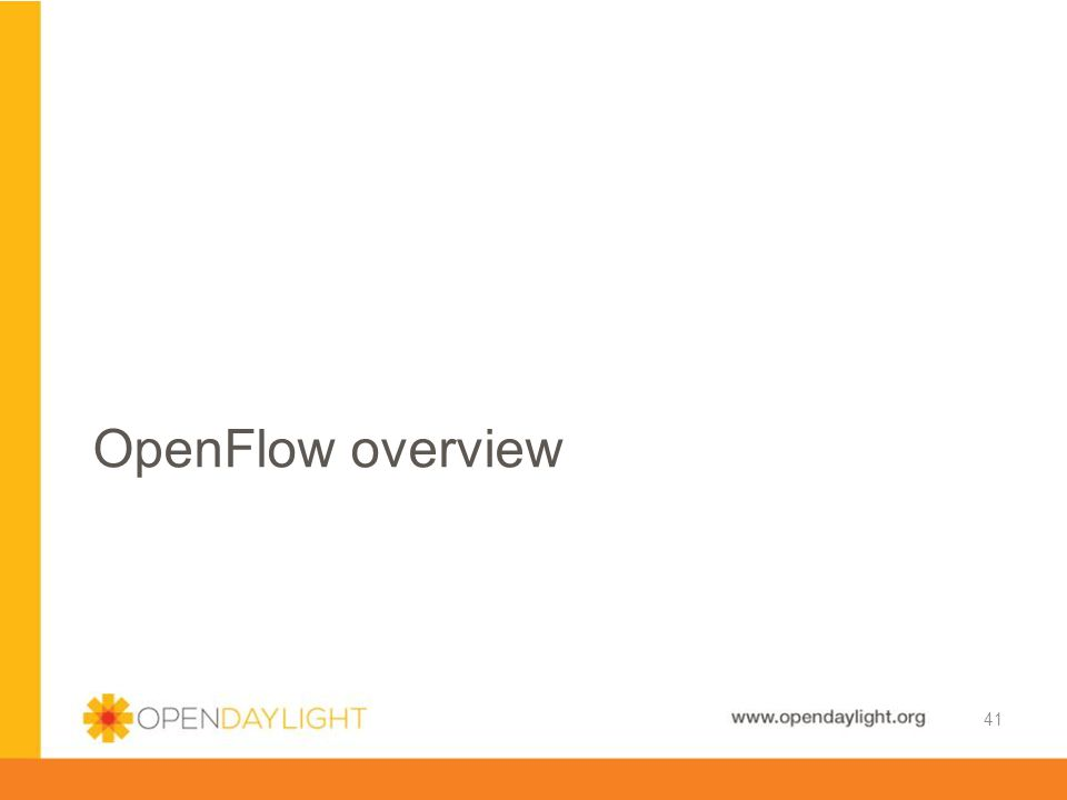 OpenFlow overview