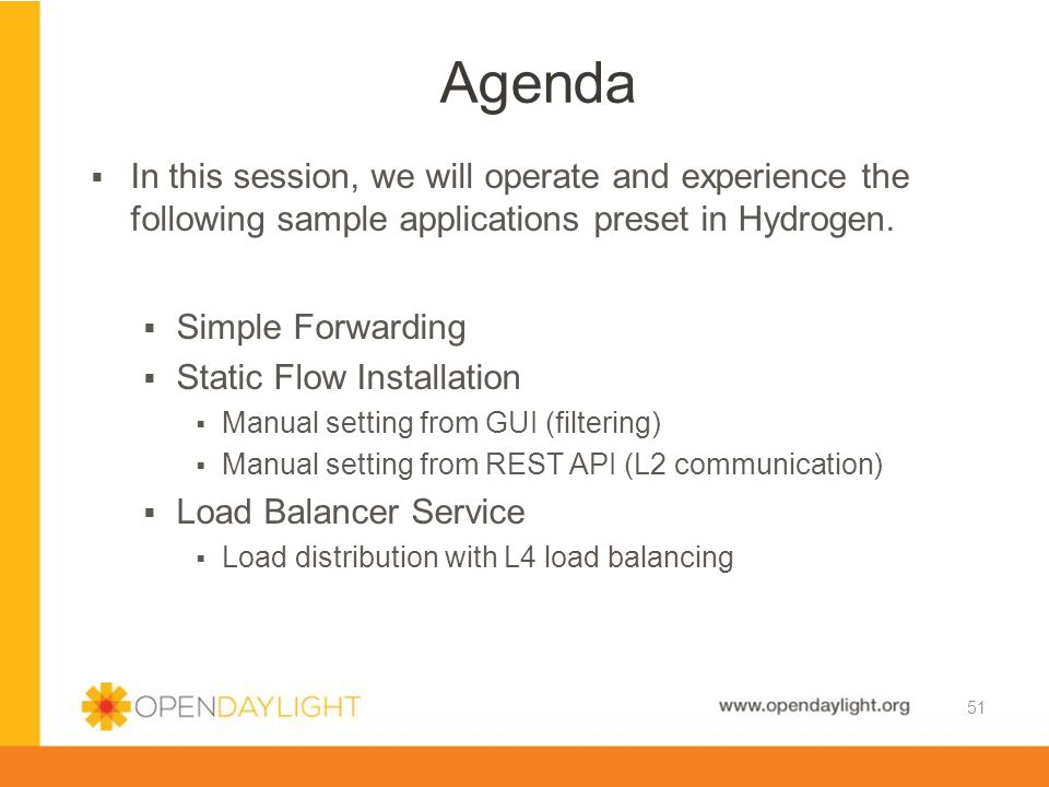 Agenda In this session, we will operate and experience the following sample applications preset in Hydrogen.