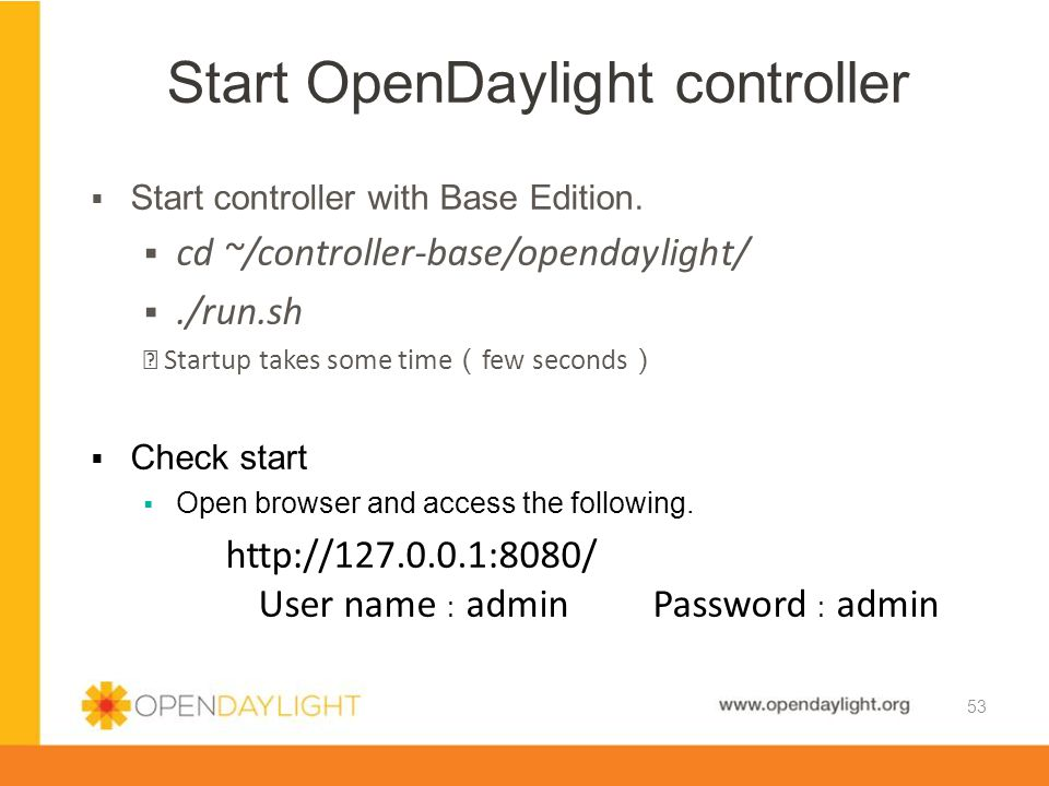 Start OpenDaylight controller