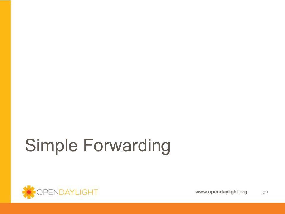 Simple Forwarding