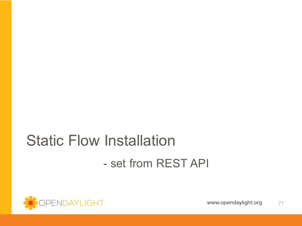 Static Flow Installation - set from REST API